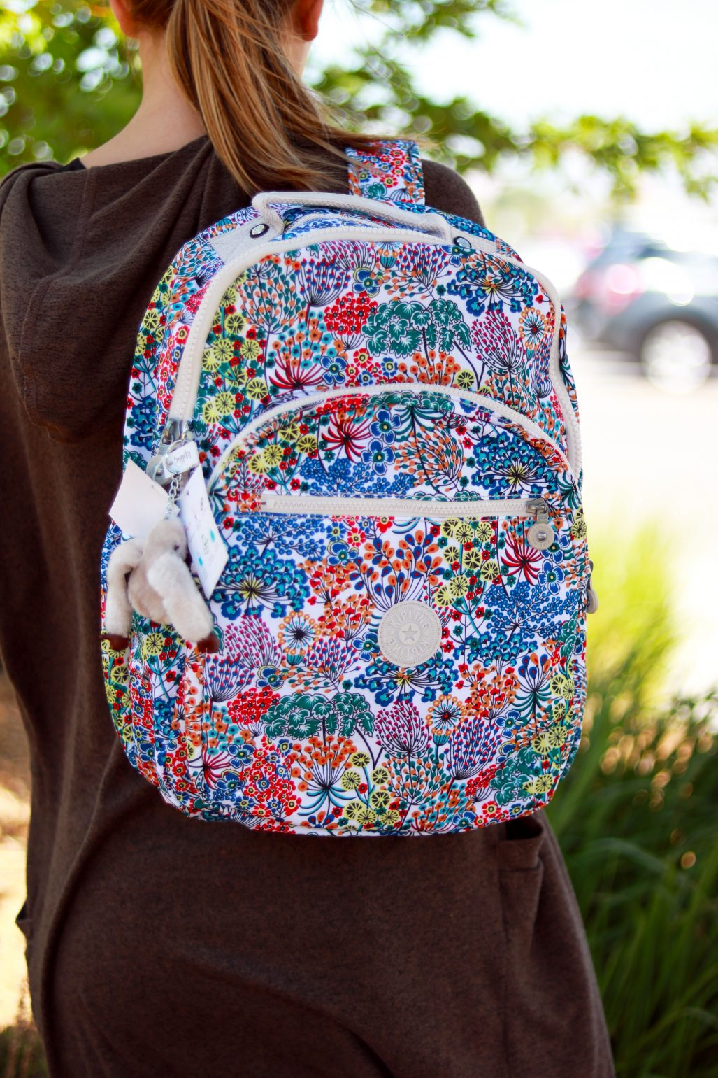 5430ed9532 This school year we are all about fun and bright patterns and this Kipling  backpack immediately caught our eye! This pack is water resistant